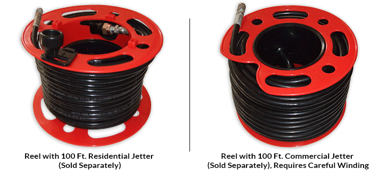 Reel with Residential Jetter (Sold Separately)