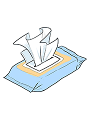 Remove a Paper and Napkin Clog