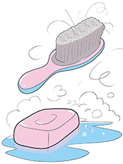 Unclog Soap and Hair
